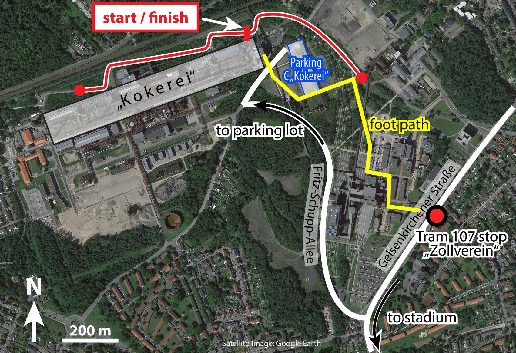 Half Marathon Th IRR RetroRunning World Championship - Zollverein germany map
